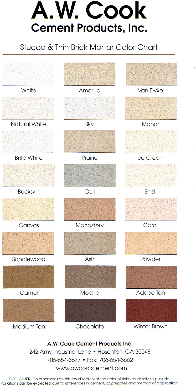 Brick Mortar Color Chart 28 Images Brick Claystone